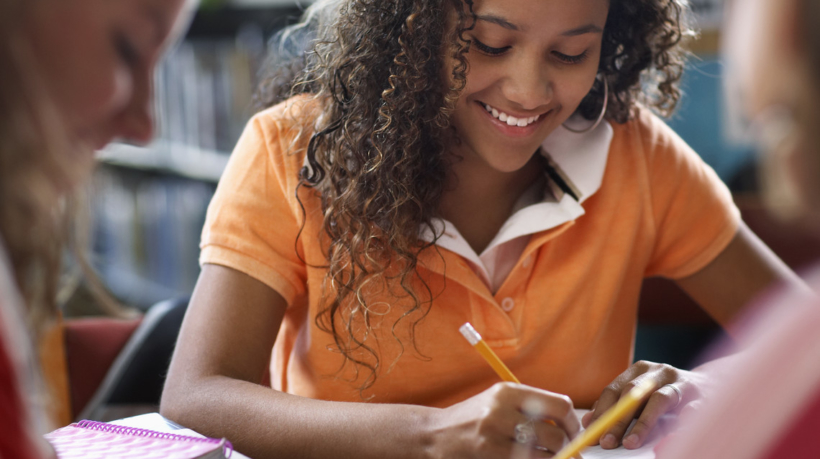 Students Doing Homework --- Image by © Royalty-Free/Corbis
